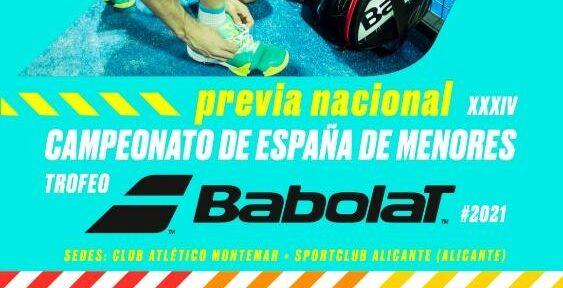 Cartel Campeonato España Padel Menores