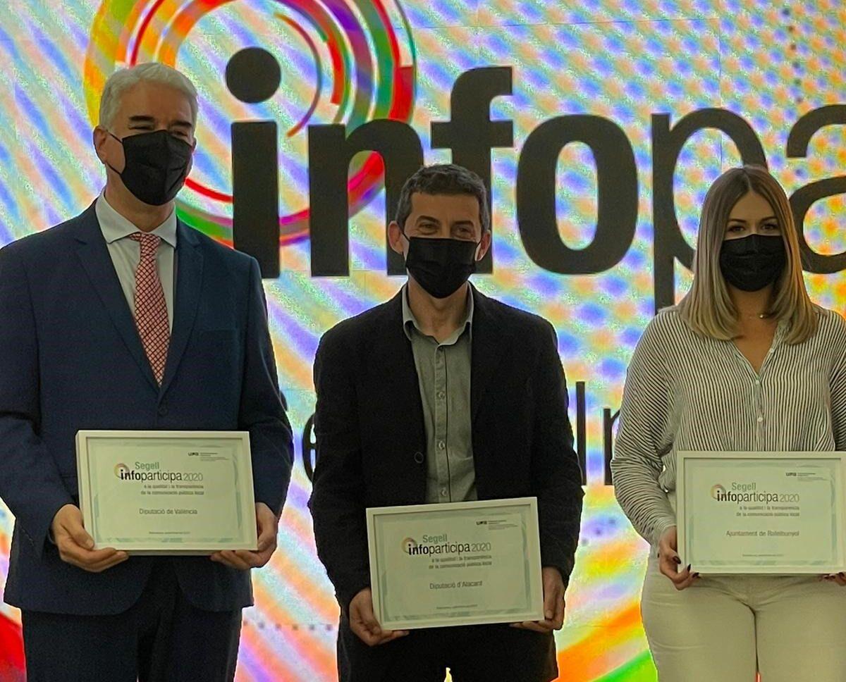 La Diputación recibe por segundo año el Sello Infoparticipa que premia su gestión en transparencia