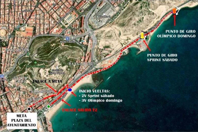 Ayuntamiento organiza un amplio dispositivo de seguridad y tráfico para celebrar este fin de semana el 'Alicante Triatlón 2021'